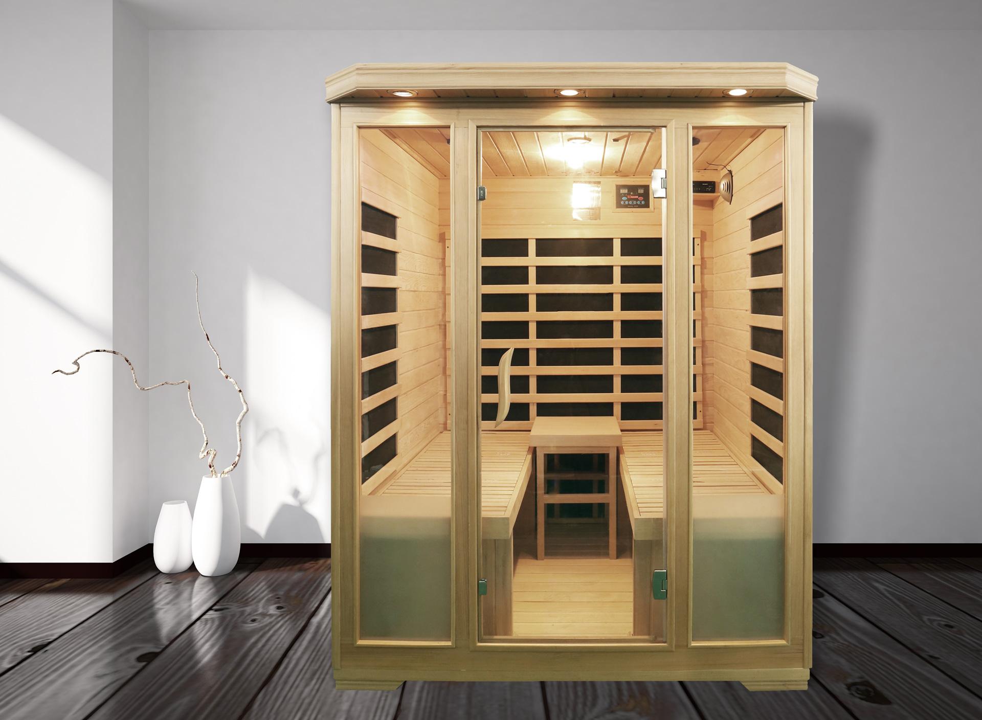 infrarotkabine mit zwei liegen infrarotkabine kolding mit liege triplex heizsystem aus. Black Bedroom Furniture Sets. Home Design Ideas