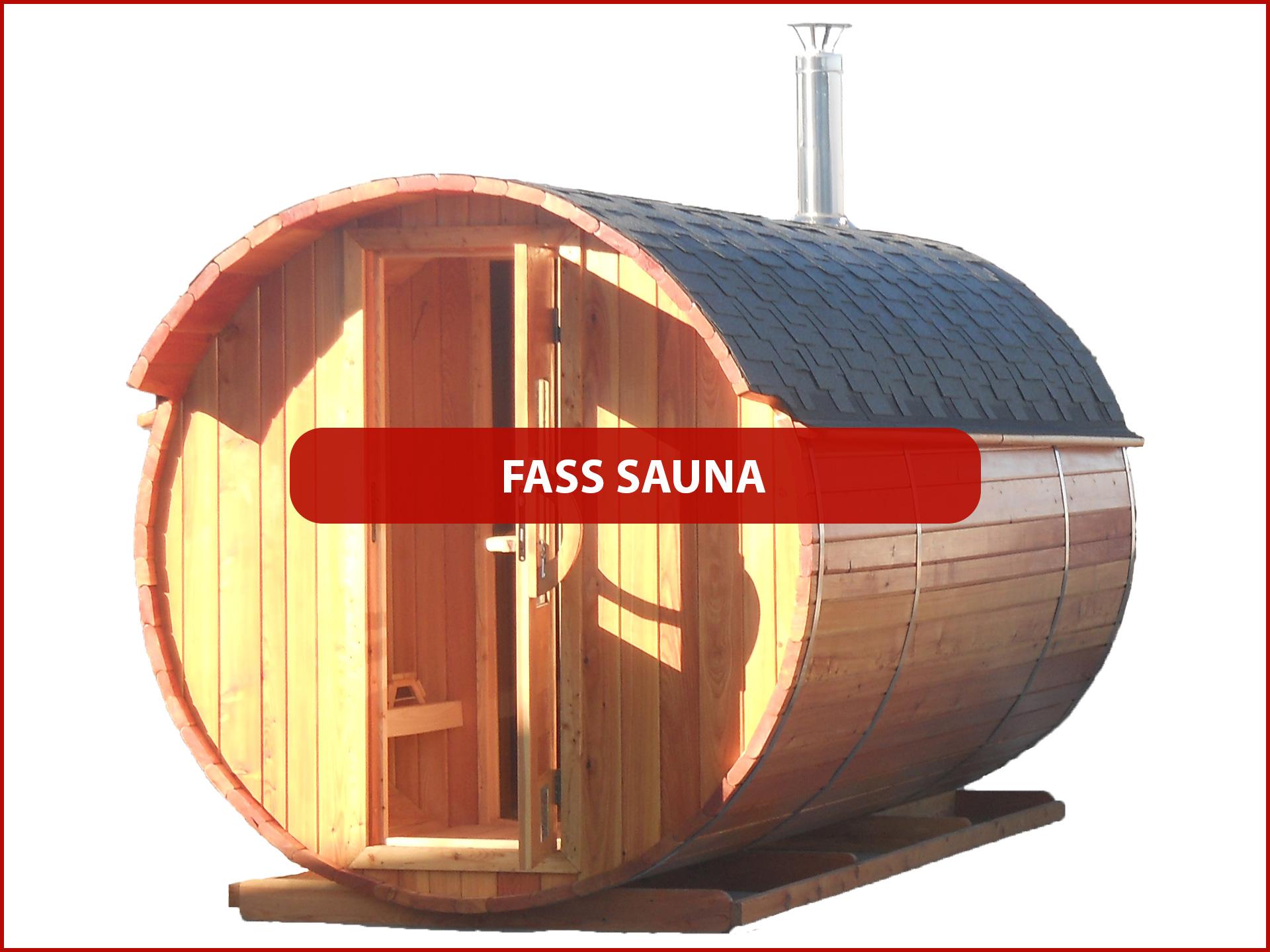 Produkte Fass Sauna